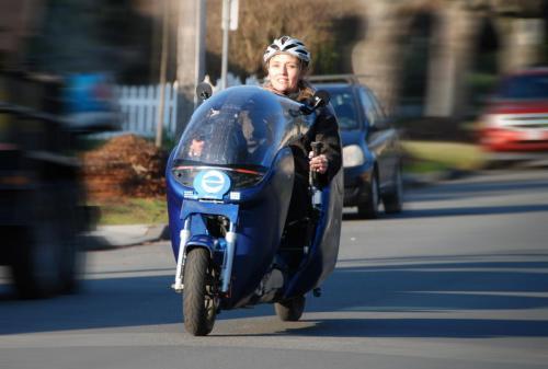 Electrom female rider